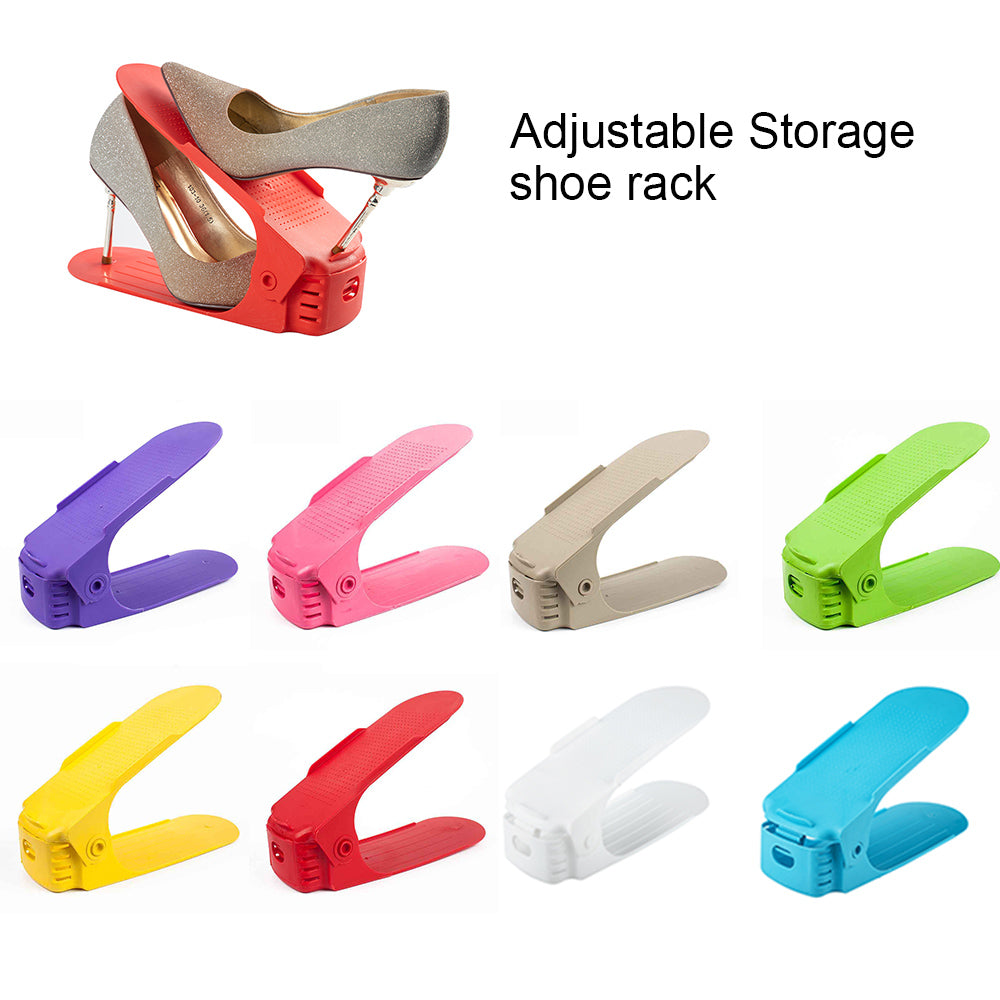 8pcs Adjustable Shoe Organizer