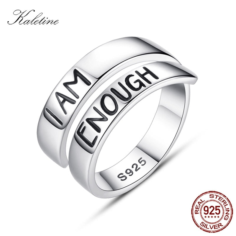 Sterling Silver Rings I AM ENOUGH Ring