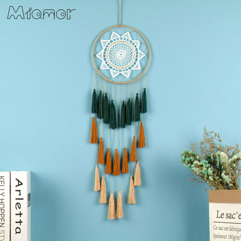 New Fashion Gift Tassel & Lace Dreamcatcher Wind Chimes Tassel Pendant Big Dream Catcher Home Wall Hanging Decor Regalo Amor054