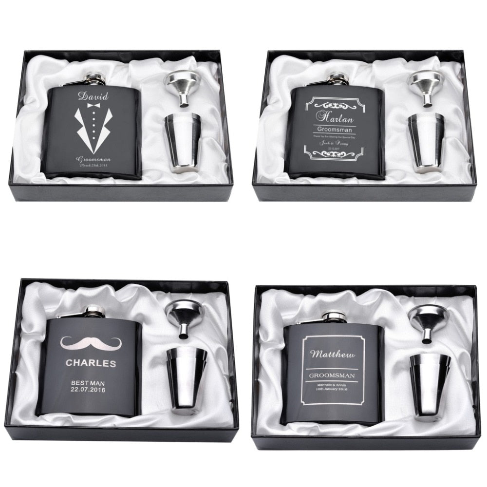 Engraved Flask Set