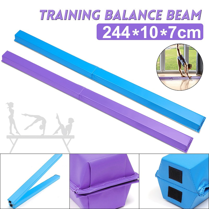 Women Balance Beam 244X10X7cm Folding Balance Beam  Cushion Adult Children's Gymnastics Gym Training Equipment For Somersault