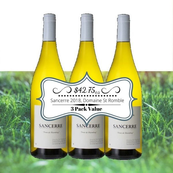 Sancerre 2018, Domaine St Romble - 3 pack value