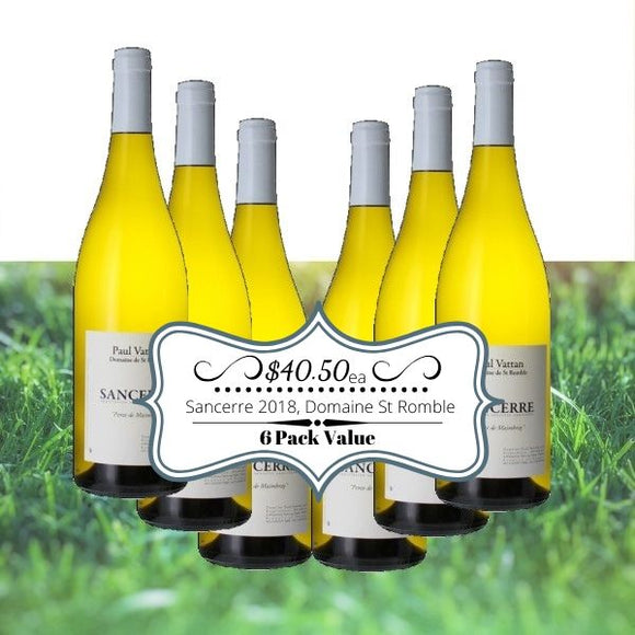 Sancerre 2018, Domaine St Romble - 6 pack value