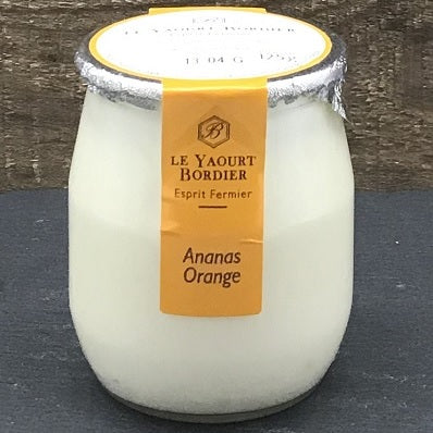 (Pre-Order, arrival on 13th October) Bordier Yogurt Pineapple / Orange Flavour (125g x 6 Glass Jars)