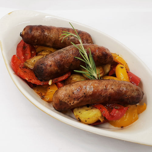 Chorizo Sausage,  Roasted Peppers and Potatoes