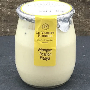 (Pre-Order, arrival on 13th October) Bordier Yogurt Mango / Passion Fruit Flavour (125g x 6 Glass Jars)