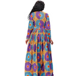 African Kitenge Wax Print Ankara Long Dress