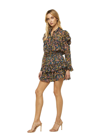 Misa Annika Dress in Abstract Floral
