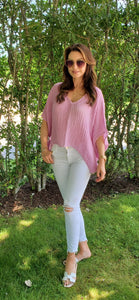 Coros Top in Pink