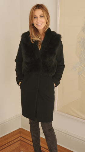 Rizal Long Coat in Black