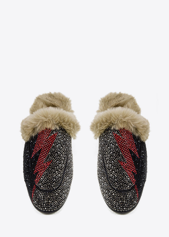 Lola Cruz Fur Slides