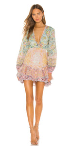 Hemant & Nandita Tiana Mini Dress in Mint Peach