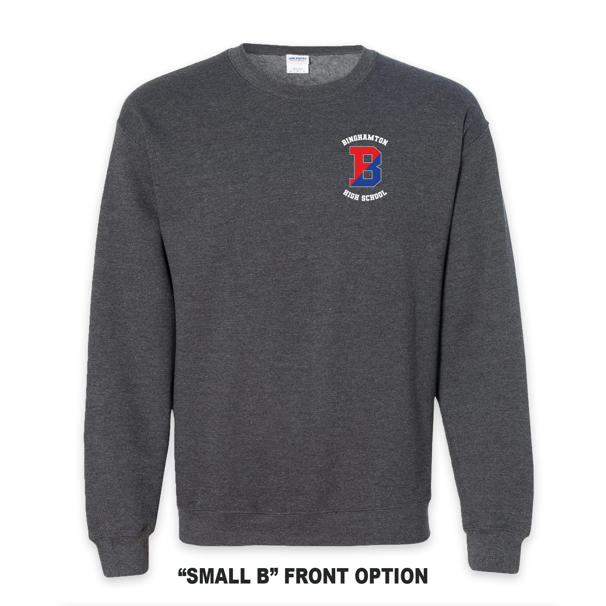 Binghamton High School Grey Patriots/ Proud Crew Neck Sweatshirt
