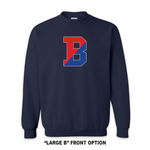Load image into Gallery viewer, Binghamton High School Navy Patriots/ Proud Crew Neck Sweatshirt