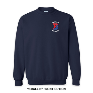 Binghamton High School Navy Patriots/ Proud Crew Neck Sweatshirt