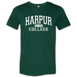 Harpur College Nostalgia Tee in Green!