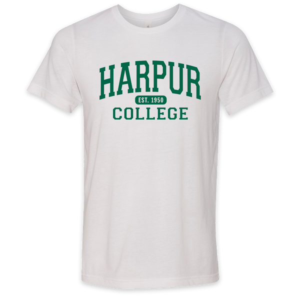 Harpur College Nostalgia Tee in White!