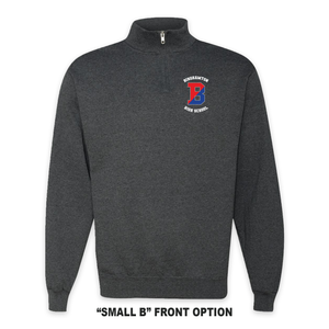Binghamton High School Patriots/ Proud Grey Quarter-Zip Pullover Sweatshirt