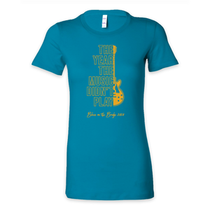 Blues On The Bridge Ladies Fitted Tee