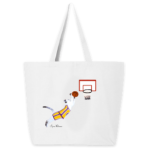 Anne Williams Art- Basketball Cat Tote