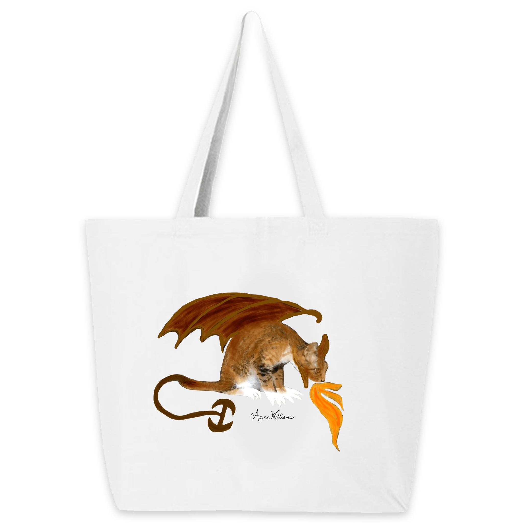 Anne Williams Art- Dragon Cat Tote