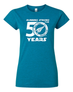 Load image into Gallery viewer, Triple Cities Runners Club Women's Fitted Tee- 50th Year Anniversary Design