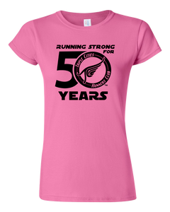 Triple Cities Runners Club Women's Fitted Tee- 50th Year Anniversary Design