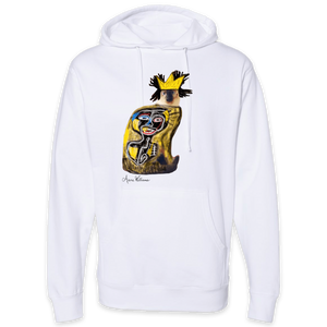 Anne Williams Art King Cat Pullover Hooded Sweatshirt