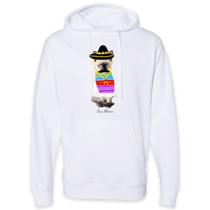 Anne Williams Art Mexican Cat Pullover Hooded Sweatshirt