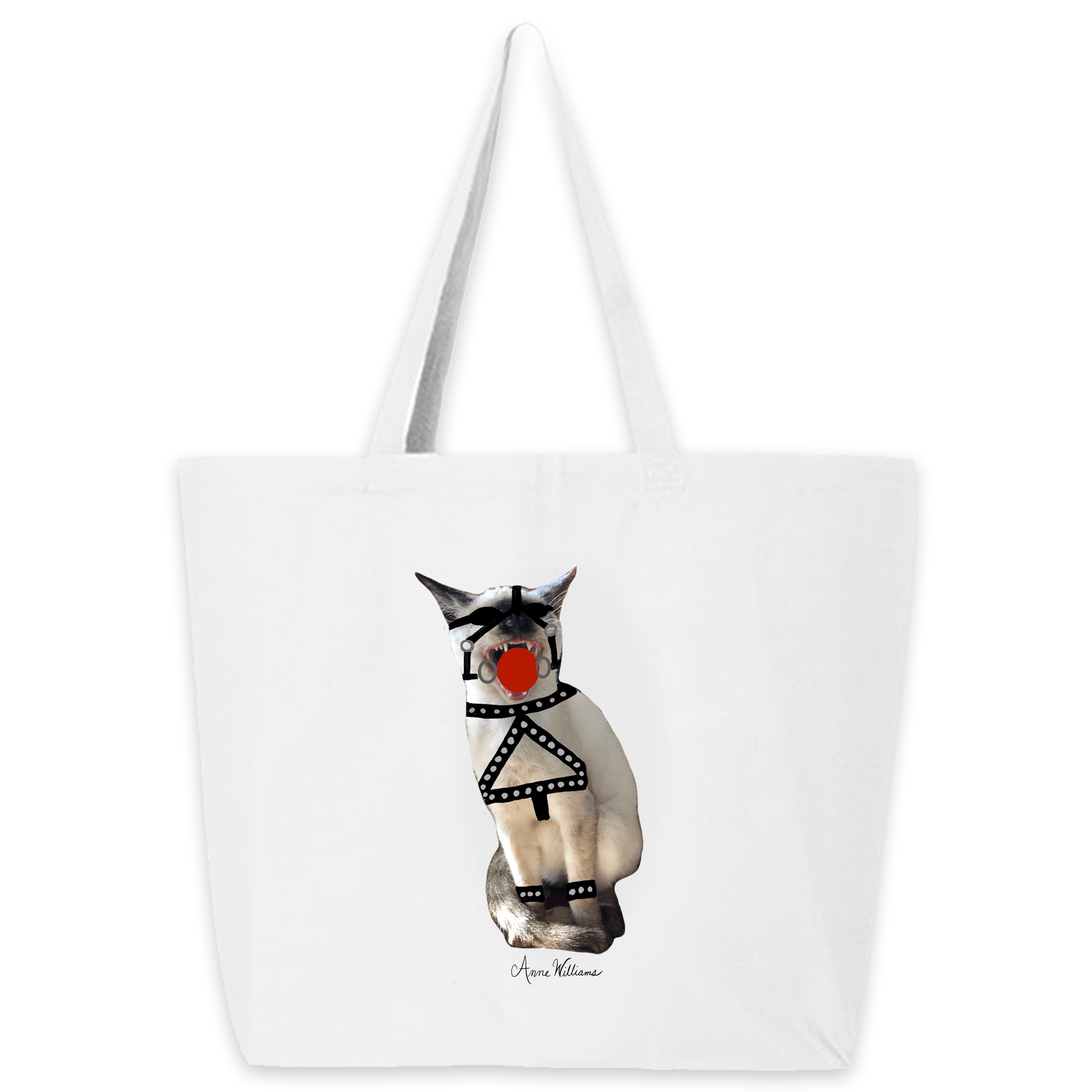 Anne Williams Art- Red Ball Cat Tote