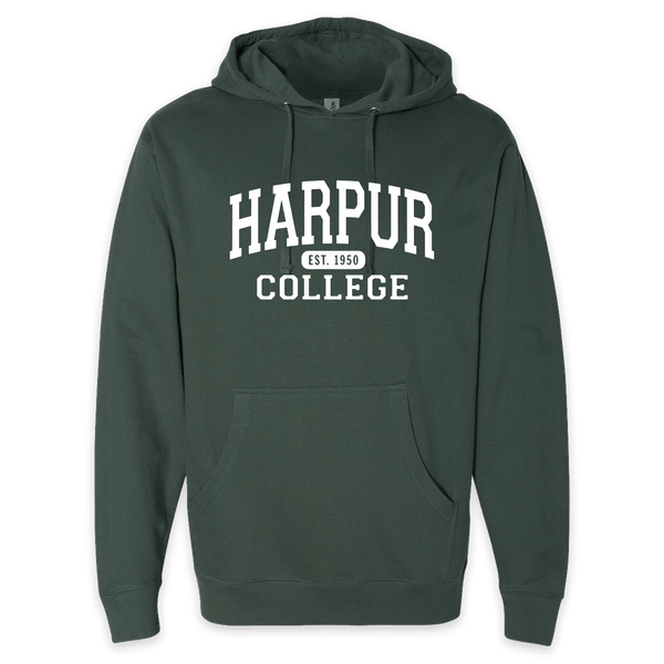 Harpur College Nostalgia Hoodie in Green!