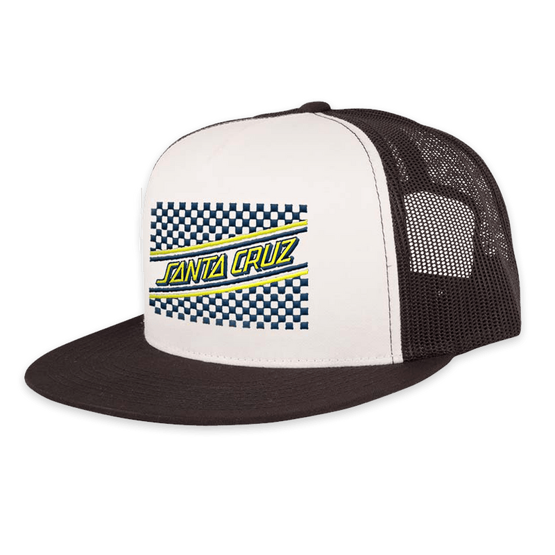 🚚Checker Stripe Mesh Trucker!