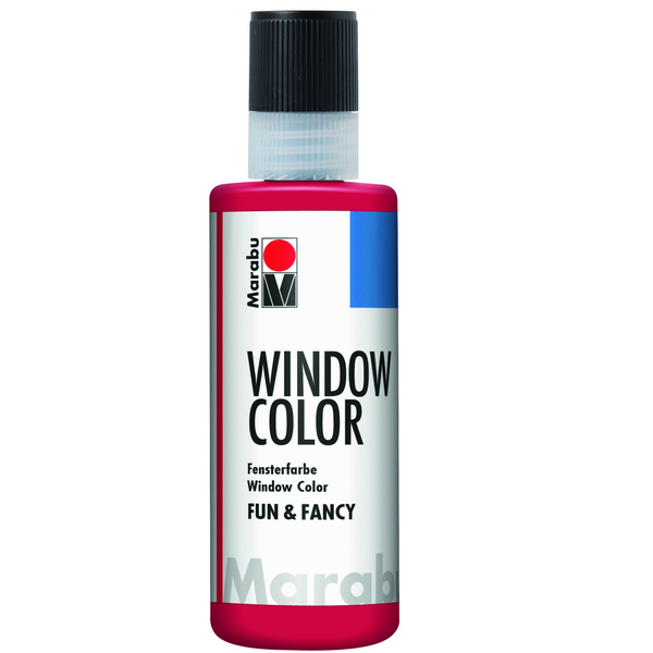 Marabu Window Color fun & fancy, Rubinrot 038, 80 ml