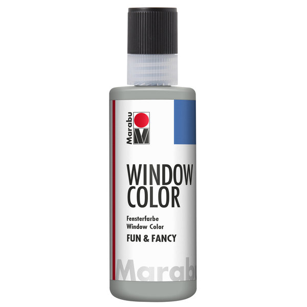 Marabu Window Color fun & fancy, Konturen Silber 082, 80 ml