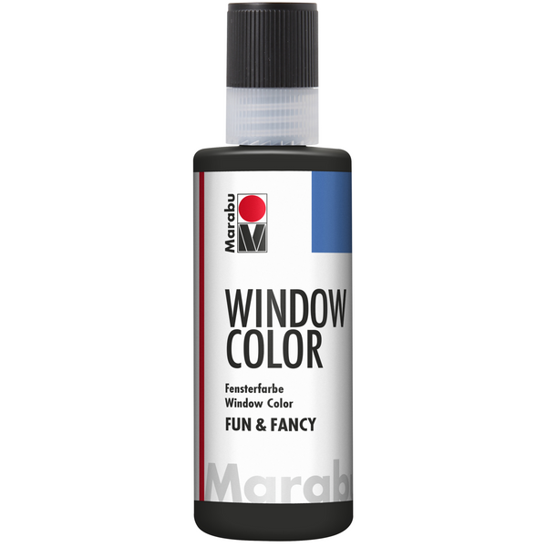 Marabu Window Color fun & fancy, Schwarz 173, 80 ml