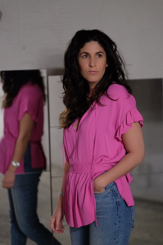 BAI TOP - VIBRANT PINK - BY MALENE BIRGER