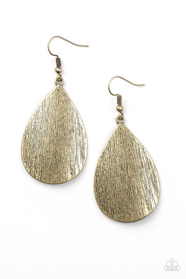 Paparazzi All Allure - Brass Earring - Be Adored Jewelry