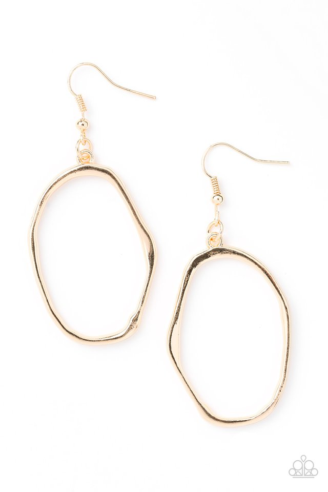 Paparazzi Eco Chic - Gold Earring - Be Adored Jewelry