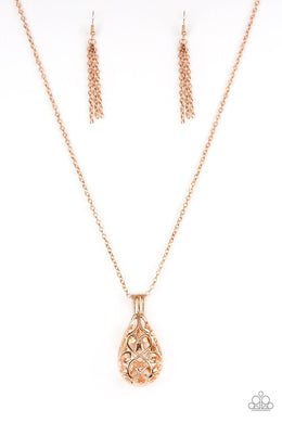 Paparazzi Accessories Magic Potions - Rose Gold Necklace - Be Adored Jewelry