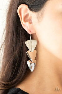 Paparazzi Accessories Terra Trek - Silver Earring - Be Adored Jewelry