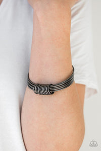 Full Revolution - Paparazzi Black Bangle Bracelet - Be Adored Jewelry