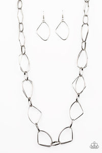 Attitude Adjustment Paparazzi Silver Necklace - Be Adored Jewelry