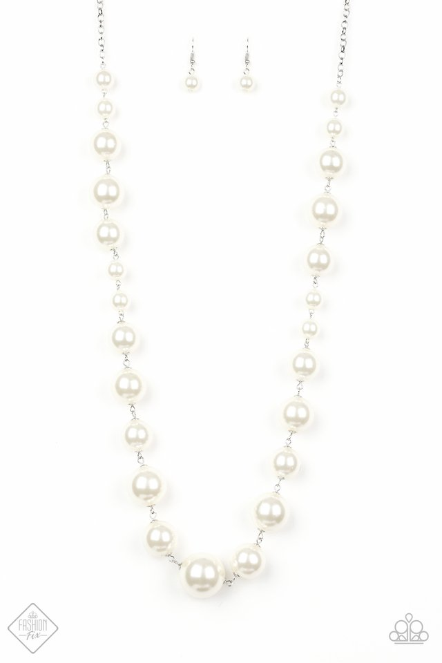 Paparazzi Accessories The Show Must Go On - White Necklace Fiercely 5th Avenue Fashion Fix - Be Adored Jewelry
