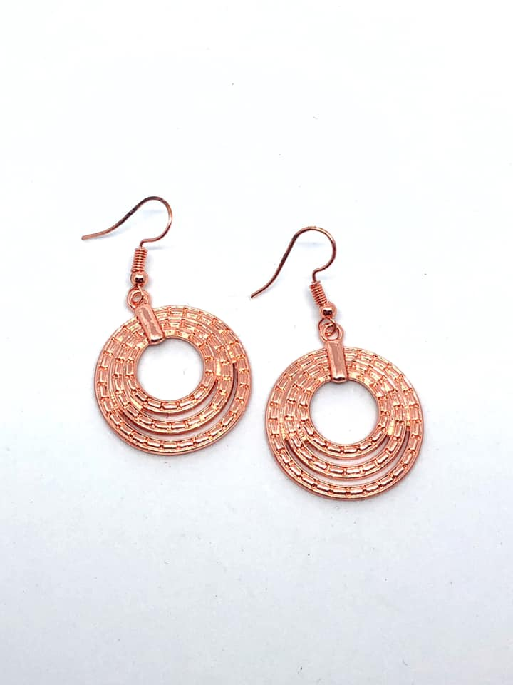 Paparazzi Accessories Open Plains - Copper Earring - Be Adored Jewelry