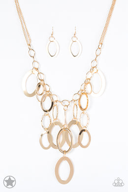 A Golden Spell - Paparazzi Gold Necklace - Be Adored Jewelry