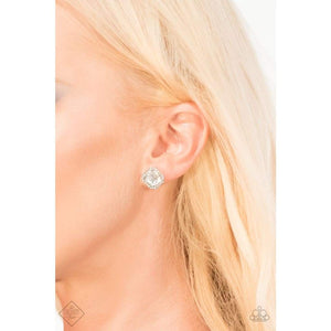 Paparazzi Act Your AGELESS - White Earring - Be Adored Jewelry