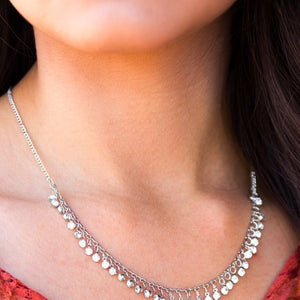 At First STARLIGHT - Paparazzi White Necklace - Be Adored Jewelry