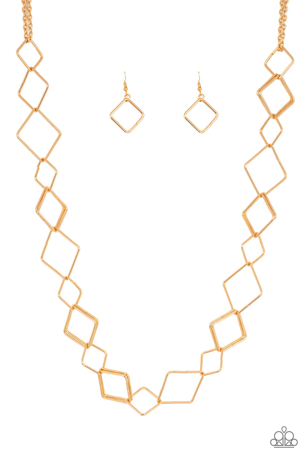 Paparazzi Backed Into A Corner - Gold Necklace - Be Adored Jewelry