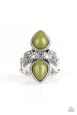 Paparazzi New Age Leader - Green Ring - Be Adored Jewelry