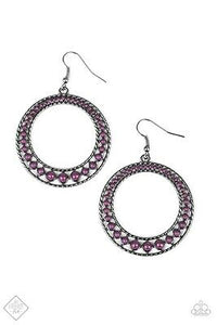 Paparazzi Bead Beat - Purple Earring - Be Adored Jewelry